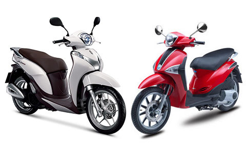 So sanh Honda SH mode va Piaggio Liberty 2014