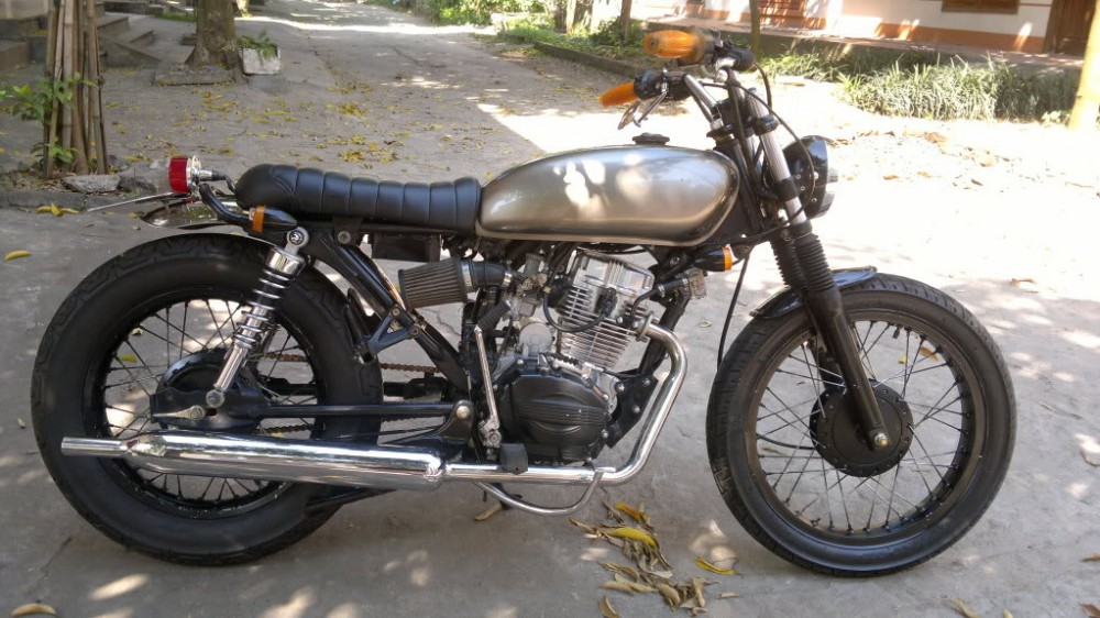 SYM Wolf 125cc net do dam chat Cafe Racer