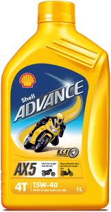 Dung thu Shell Advance AX5 15W40 Shell Advance AX7 Scooter 10W40 - 2