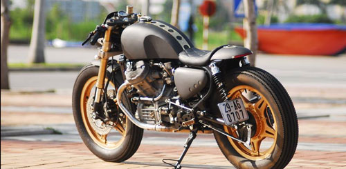 Honda GL400 do Cafe racer doc dao tai Viet Nam