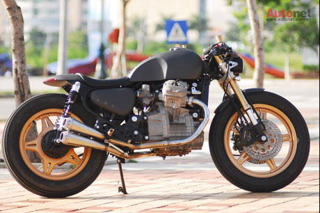 Honda GL400 do Cafe racer doc dao tai Viet Nam - 9