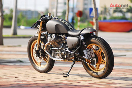 Honda GL400 do Cafe racer doc dao tai Viet Nam - 19