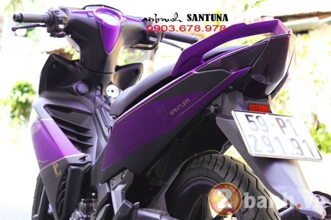 Exciter phoi mau tim lamborghini tai Air Brush Santuna - 2