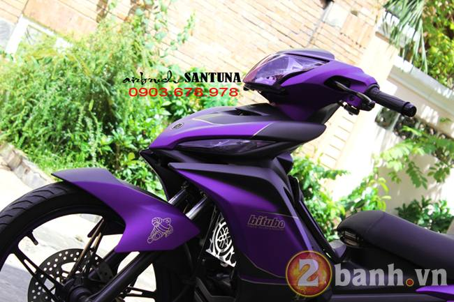 Exciter phoi mau tim lamborghini tai Air Brush Santuna - 4