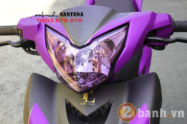 Exciter phoi mau tim lamborghini tai Air Brush Santuna - 7