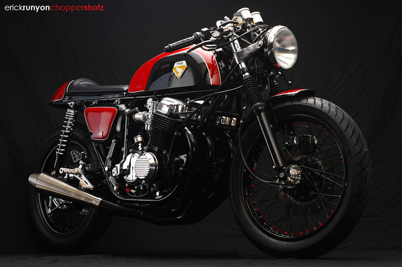 Cafe racer Honda Cb750 ly cafe dam chat