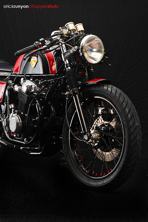 Cafe racer Honda Cb750 ly cafe dam chat - 3