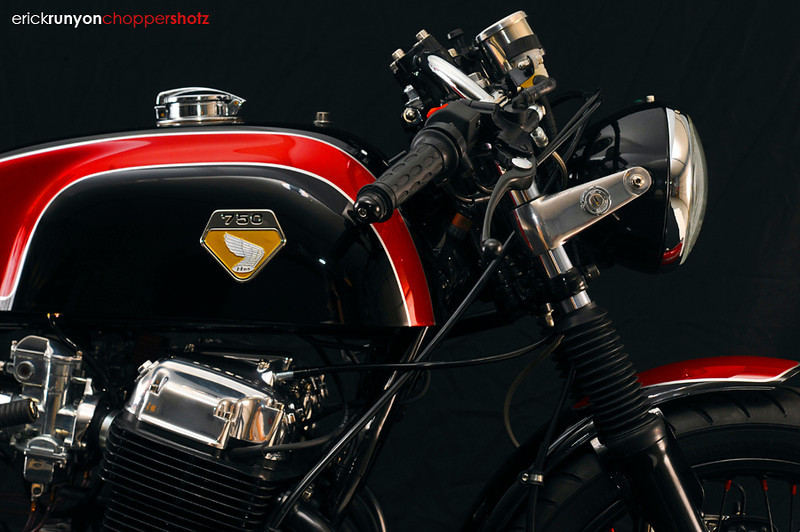 Cafe racer Honda Cb750 ly cafe dam chat - 5