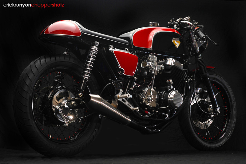 Cafe racer Honda Cb750 ly cafe dam chat - 7