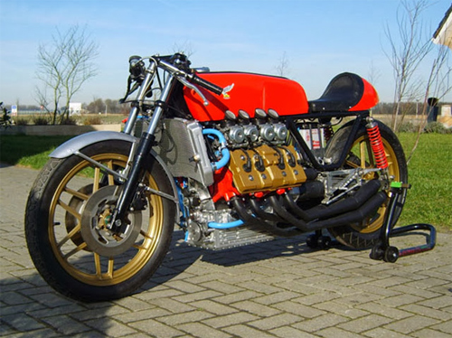 Moto dong co V8 Morbidelli 850