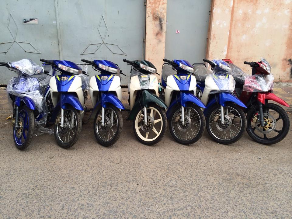 Hot Viet Nam vua nhap ve lo hang Suzuki Sport 110 va Ya Z new 100