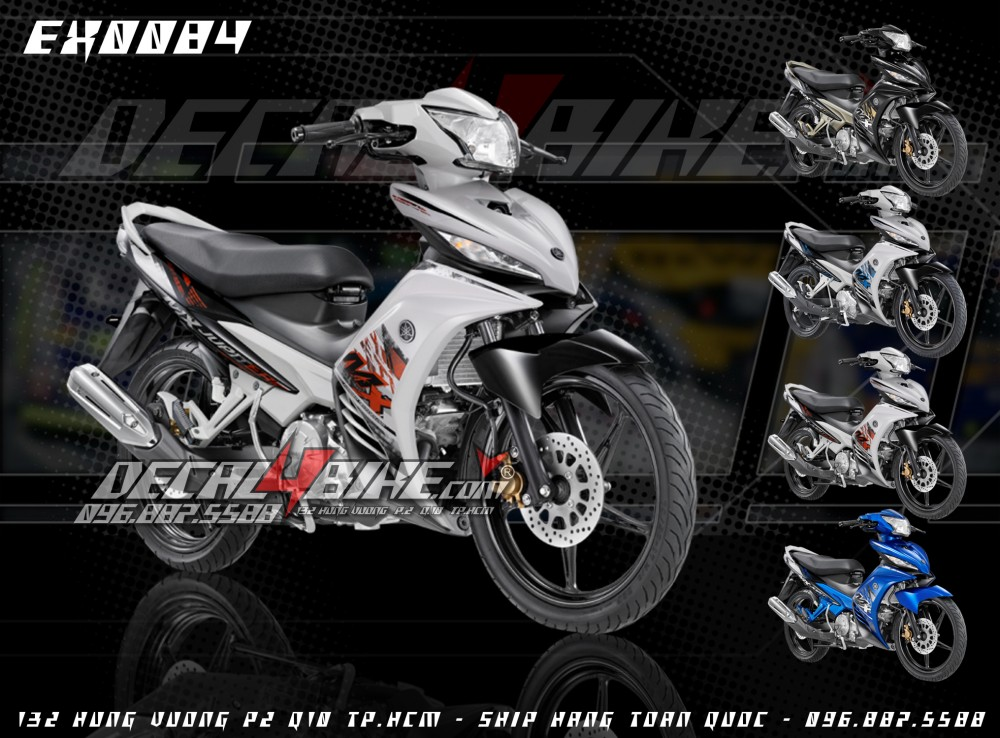 Tem Exciter MX2014 moi design tai Decal4bike