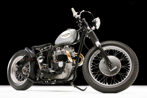 Triumph TR6 bobber Anh tren dat My