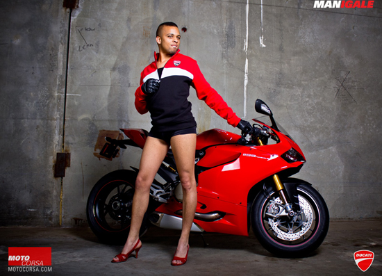 Anh hot girl VS Ducati 1199 - 12