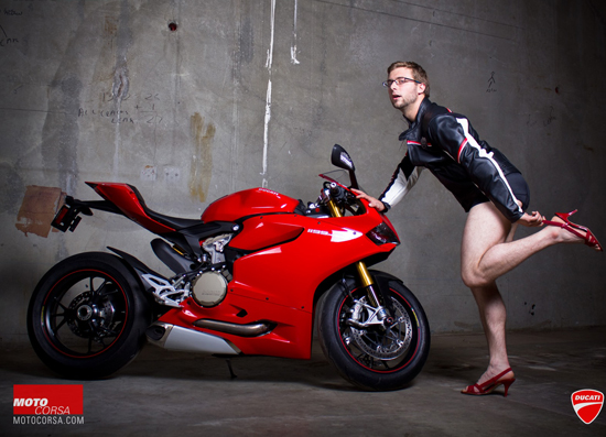 Anh hot girl VS Ducati 1199 - 14