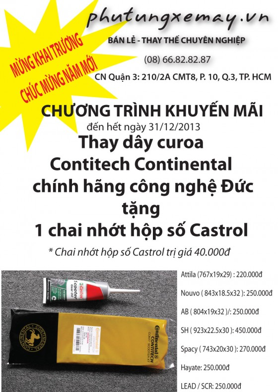 Day curoa Contitech Continental chinh hang cong nghe Duc phutungxemayvn