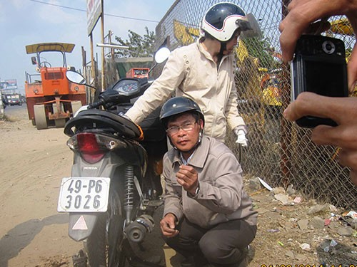 Dinh nam xep lop nghe thuat tren duong o TPHCM