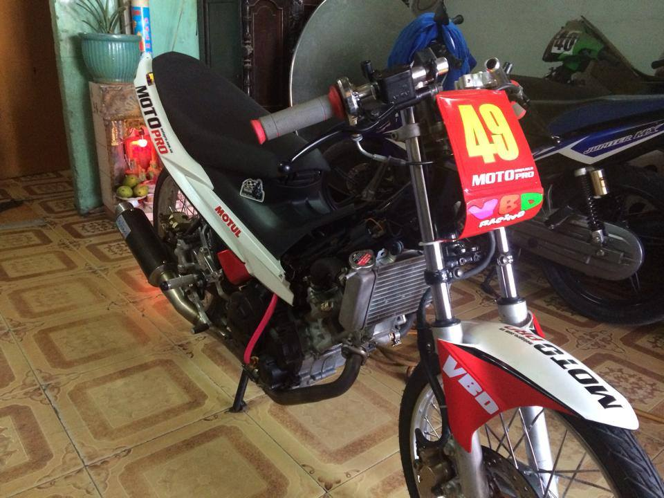 Exciter Drag 400m khung cua CLB Motopro Racing - 2