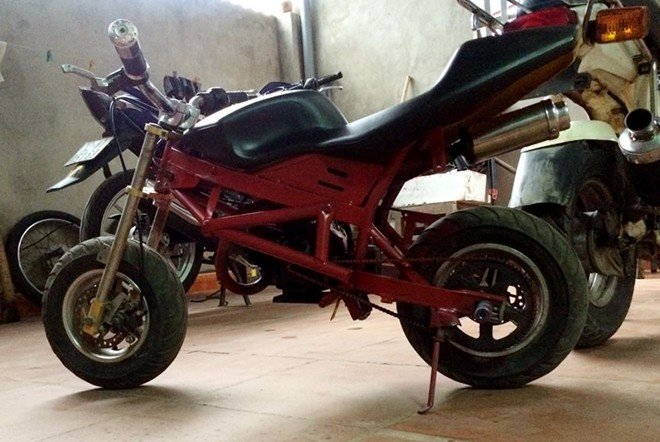 Ngam xe do mini phong cach Ducati Streetfighter tai VN