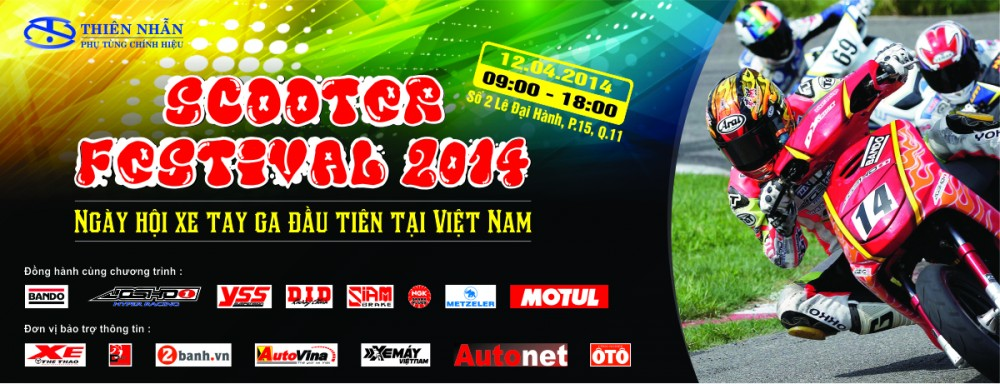 Dang ky tham gia Ngay Hoi Tay Ga Scooter Festival 2014