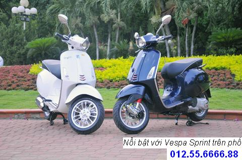 Vespa Sprint dong xe piaggio moi phong cach y chi can 21900000 vnd - 2