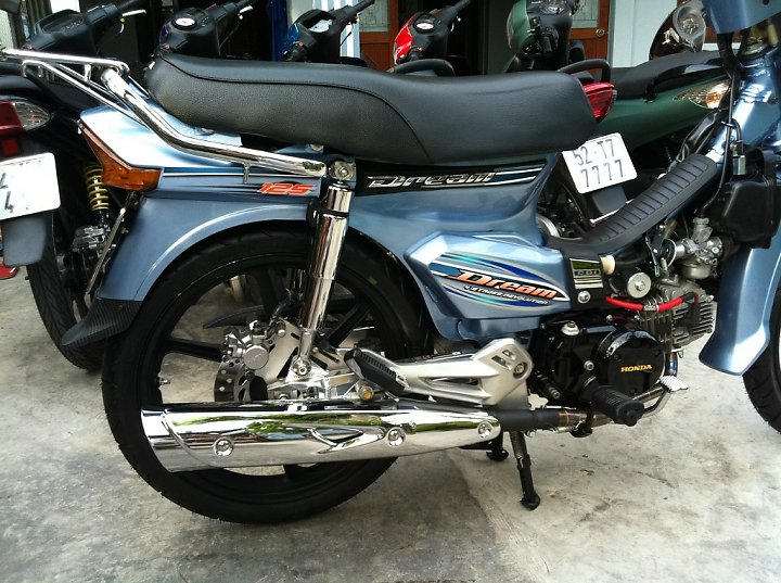Honda Dream Long An don leng keng cung dan bien so khung - 5