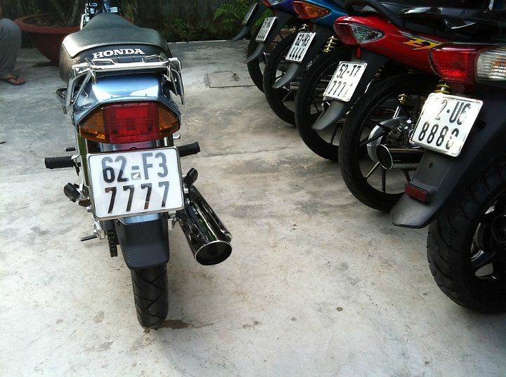Honda Dream Long An don leng keng cung dan bien so khung - 8