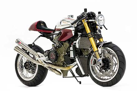 Ducati 1199 Panigale S phien ban Cafe Racer - 4