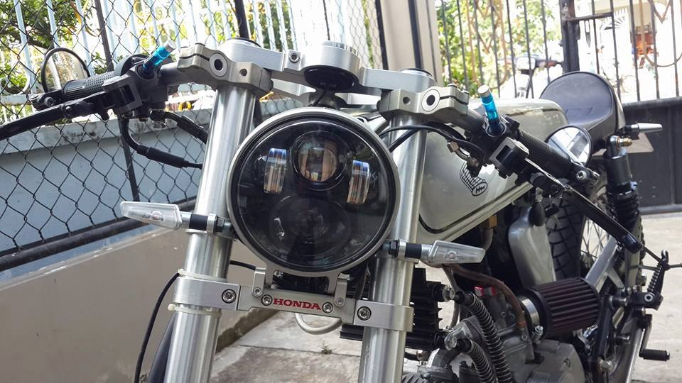 Honda 67 cafe racer chuan ko can chinh - 4