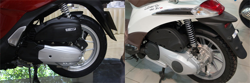 So sanh Honda SH mode va Piaggio Liberty 2014 - 7