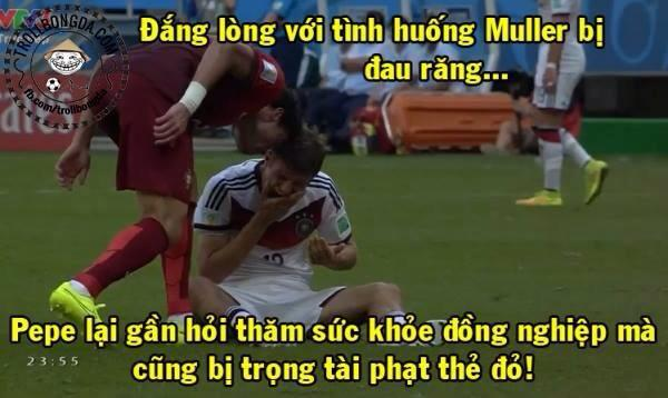 Video Pepe bi the do lai mot sai lam lon cua trong tai tai World Cup 2014