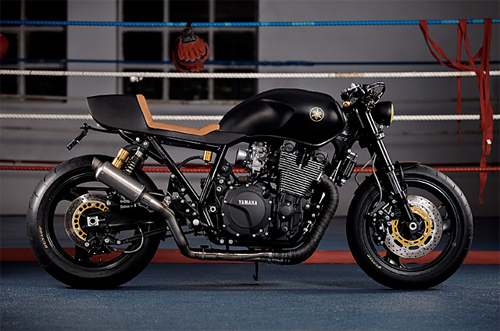 Yamaha XJR1300 Stealth do cafe racer voi cam hung tu chien dau co - 3