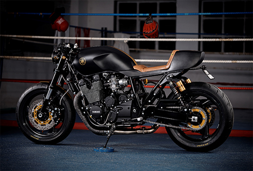 Yamaha XJR1300 Stealth do cafe racer voi cam hung tu chien dau co - 4