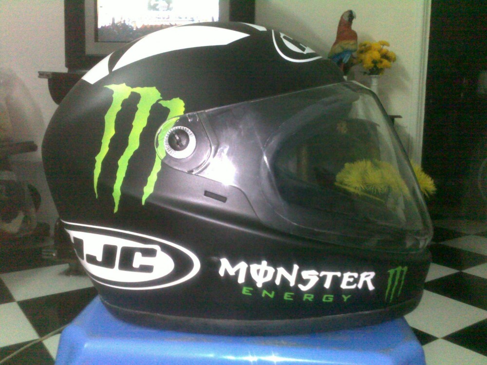 Ban non Full Face Andes son Airbrush Monster HJC - 2