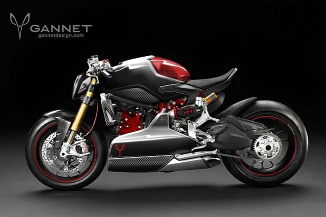 Ducati 1199 Panigale do cafe fighter ham ho