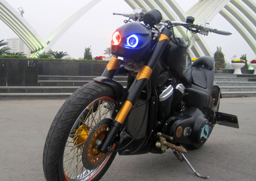 Honda Cruiser do phong cach Bumblebee Transformer tai Ha Noi - 4
