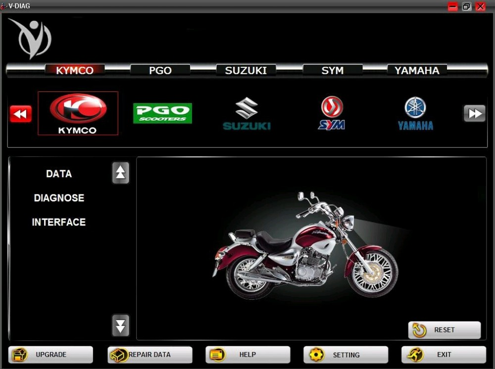 Thiet bi chan doan loi xe may VD100 motorcycle scanner for YamahaFor hondasym - 6