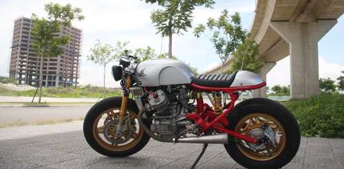 Honda GL400 do Cafe Racer cuc chat tai Da Nang