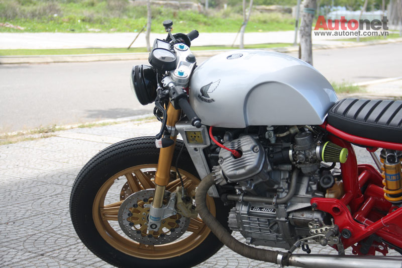 Honda GL400 do Cafe Racer cuc chat tai Da Nang - 2