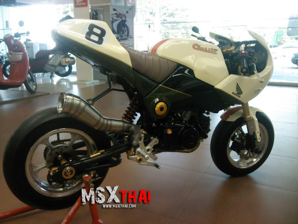 Honda MSX do Cafe Racer voi po con sau - 2