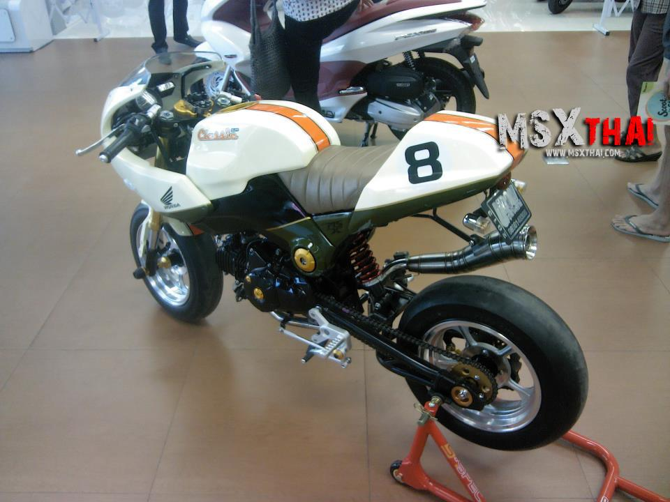 Honda MSX do Cafe Racer voi po con sau - 5