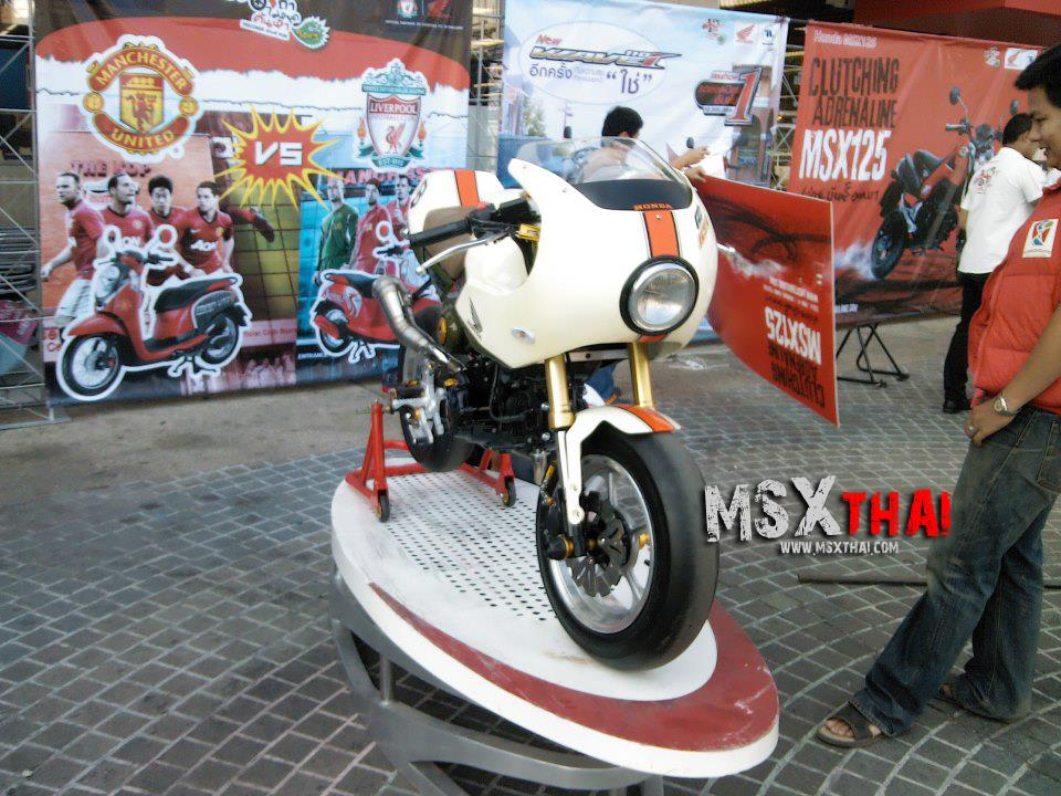 Honda MSX do Cafe Racer voi po con sau - 8