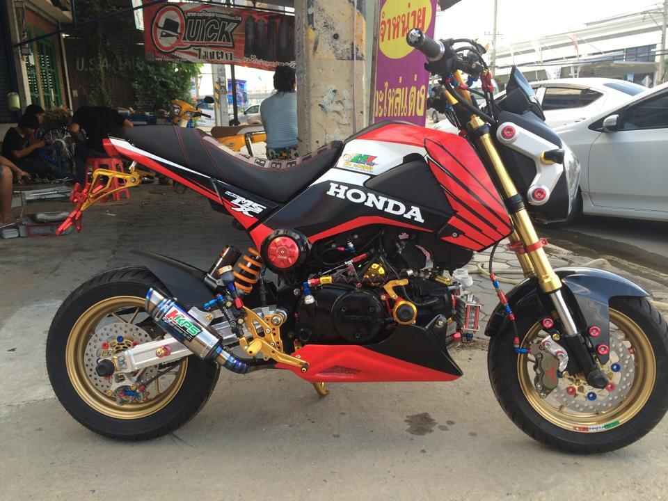 Honda MSX do sac mau lung linh ben Thai