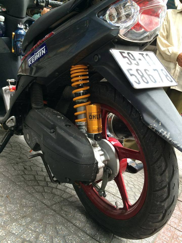 Yamaha Mio ket nuoc deo Ohlins cuc cool - 2
