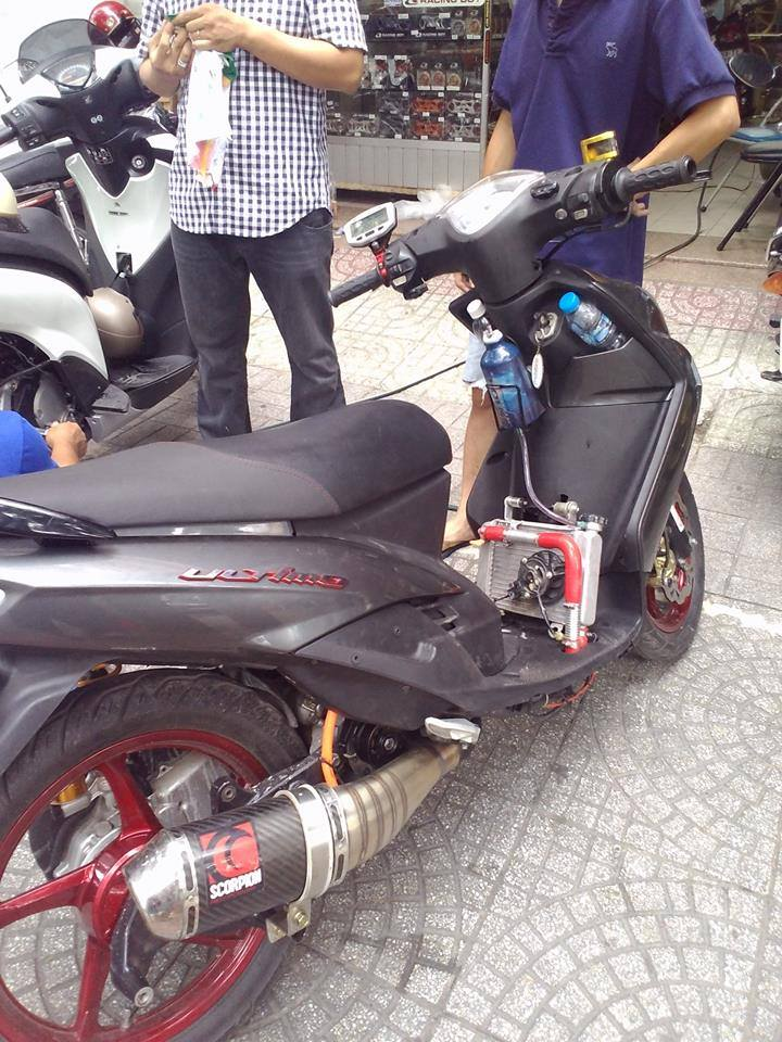 Yamaha Mio ket nuoc deo Ohlins cuc cool - 3