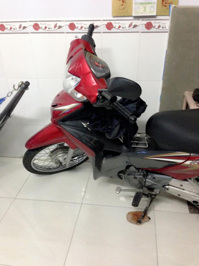 Can ban xe honda wave S 110 mau do den nguyen zin - 2