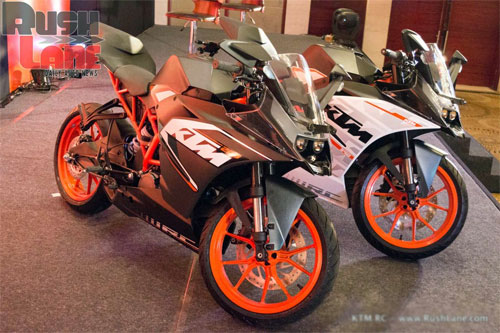 KTM ra mat cap doi RC390 va RC200 tai An Do - 3