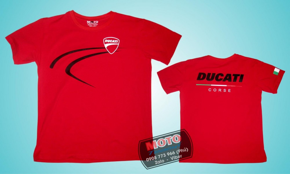 Ao thun Ducati vai cotton