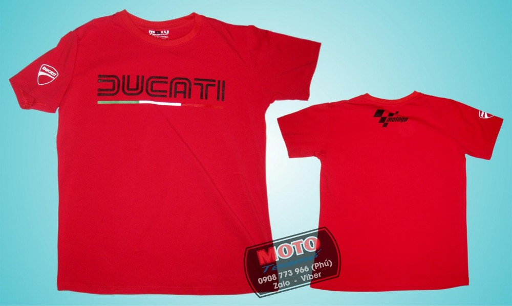 Ao thun Ducati vai cotton - 2