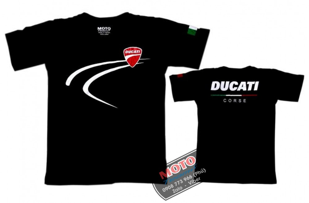 Ao thun Ducati vai cotton - 3